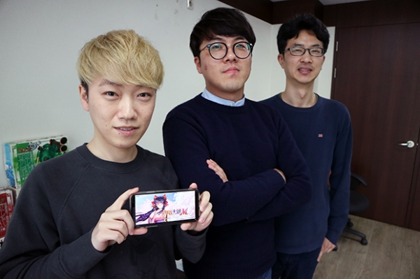 ▲ (좌측부터) 김재진 스노우파이프 기획PM, 박영민 사업PM, 김강흠 총괄PD (사진=경향게임스)